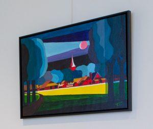 Schilderij, expositie Ton Trompert notariskantoor Oosterhesselen